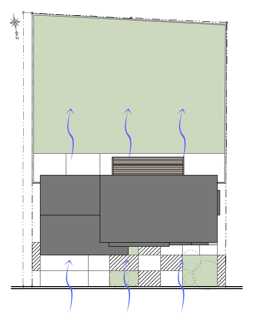 福井県鯖江市で、パッシブハウスを考える。I-House編  [自然風利用(敷地環境)]_f0165030_16512820.jpg