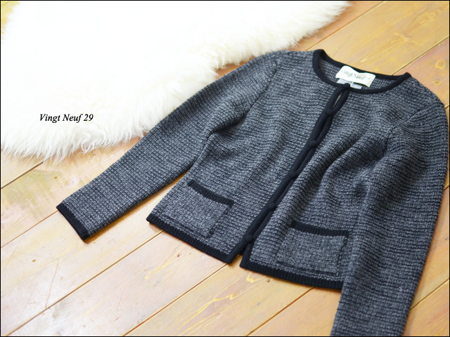 Vingt Neuf 29 [ヴァンヌフ] KNIT NO COLLAR JACKET [VN-T14-3A] _f0051306_1753553.jpg