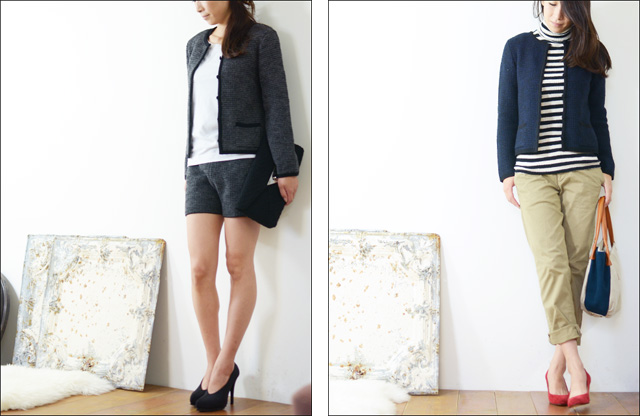 Vingt Neuf 29 [ヴァンヌフ] KNIT NO COLLAR JACKET [VN-T14-3A] _f0051306_17535756.jpg