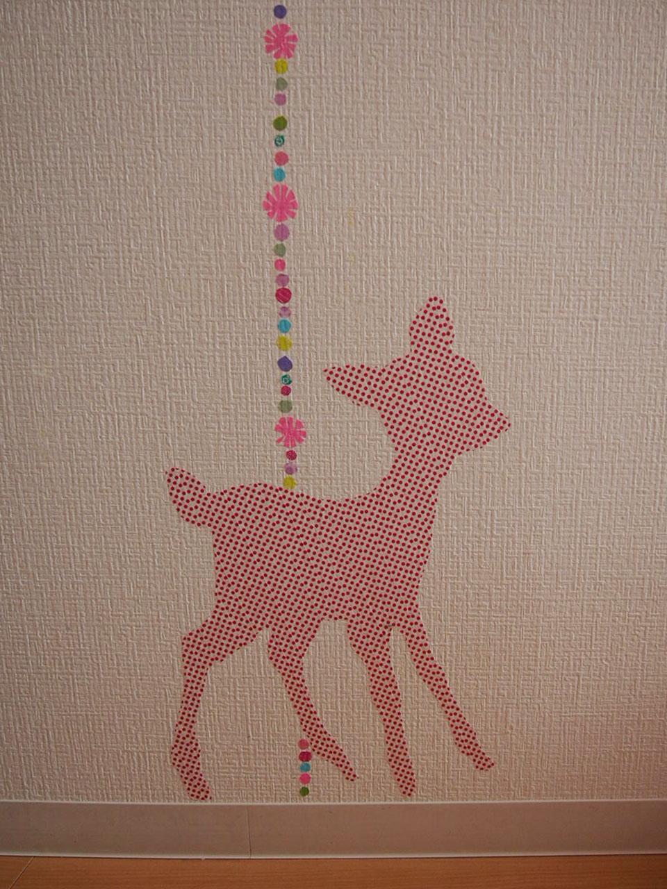 子どもも喜ぶかわいい「小鹿」のウォールデコ!作り方のコツ!