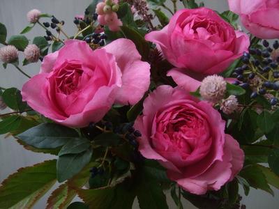 オークリーフ(秋バラと実もののアレンジメントⅠ)_f0049672_11483949.jpg