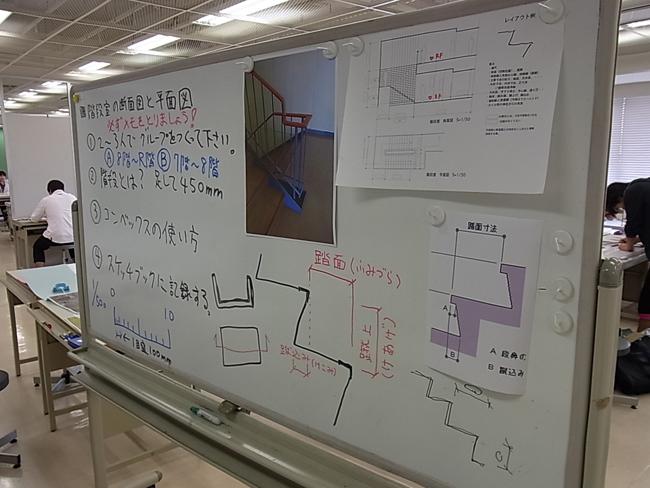 かなり難しい階段の実測と作図_b0186200_6454837.jpg