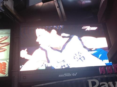 渋谷、「黒子のバスケ二期予告ムービー」_e0057018_549331.jpg