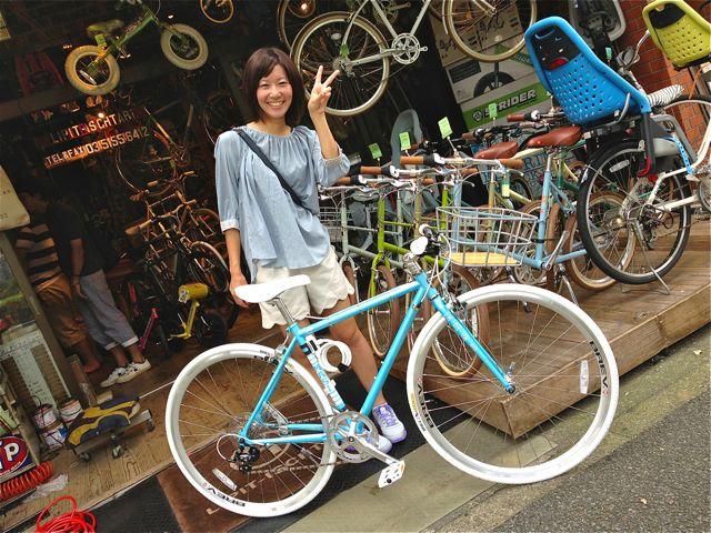 ☆今日のバイシクルガール 5本立て☆女子 おしゃれ 自転車_b0212032_21492146.jpg