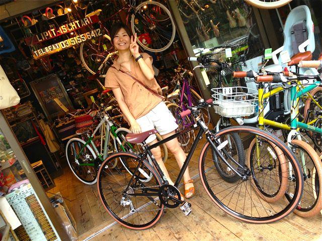 ☆今日のバイシクルガール 5本立て☆女子 おしゃれ 自転車_b0212032_21502320.jpg