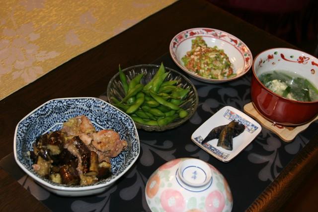 ★・・・揚げ茄子とブタ肉の煮物 _f0229190_1431435.jpg