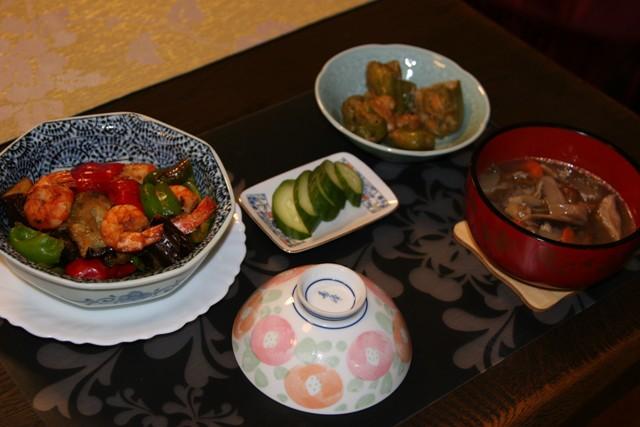 ★・・・海老と茄子の味噌炒め  _f0229190_168233.jpg