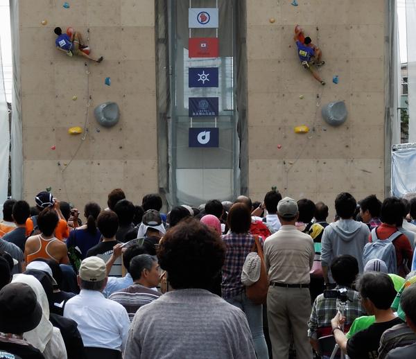 スポーツ祭東京の山岳競技を観戦_b0190576_0175023.jpg