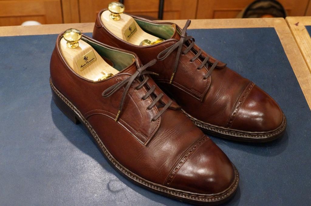 私物の茶靴をクリーニング_d0166598_20112375.jpg