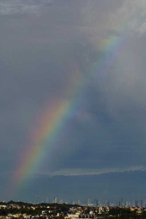 虹と夕焼け_e0237625_12405965.jpg