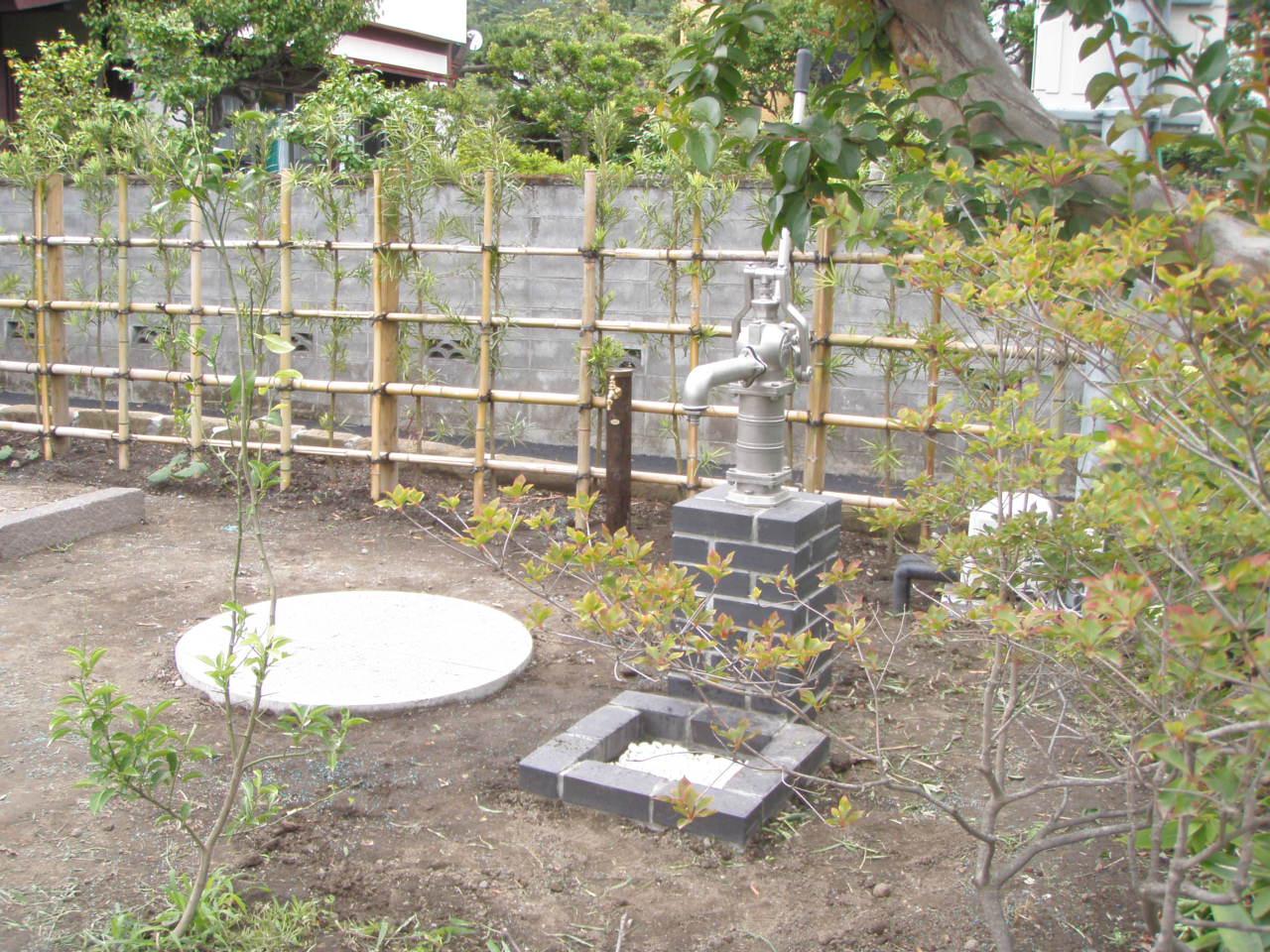 井戸を活かしたお庭づくり_b0170161_15233511.jpg