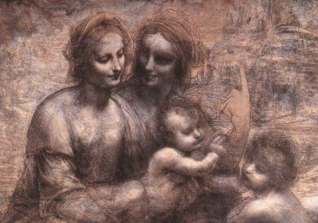 モナリザを巡る冒険 その2 『聖アンナと聖母子』のカルトン_e0122680_19115488.jpg