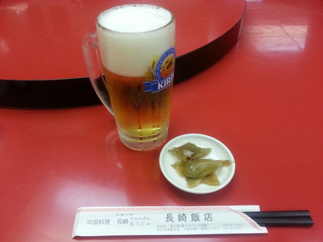 10/11  長崎飯店渋谷店  皿うどん + 生ビール ¥1,550_b0042308_11233215.jpg