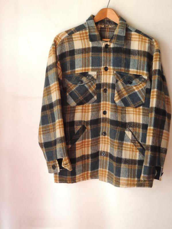 60S DEACON BROTHERS WOOL SHIRT JACKET--RECOMMEND--_c0176867_12505573.jpg