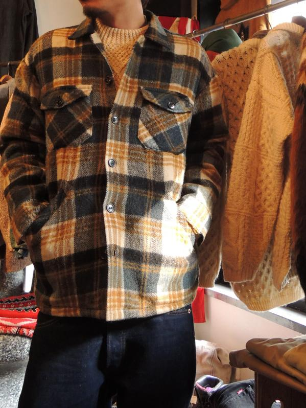 60S DEACON BROTHERS WOOL SHIRT JACKET--RECOMMEND--_c0176867_1354115.jpg
