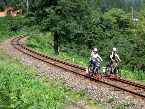 自転車の 神岡 自転車 線路 : 地点の奥飛騨温泉口駅から神岡 ...