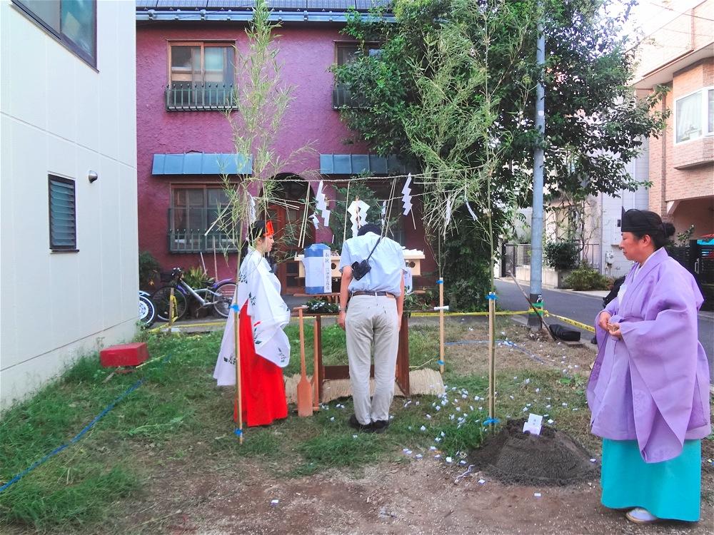 「池之端の家」地鎮祭_f0230666_1120355.jpg