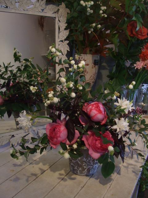 オークリーフ花の教室(北条さんと根本さんの作品)_f0049672_16374015.jpg