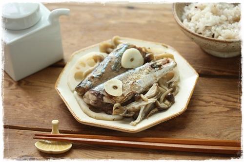 フライパンのさんまレシピと、虹!_b0165178_1244585.jpg