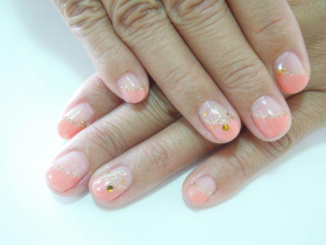 Coral Orange Nail_a0239065_15595895.jpg