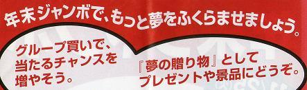 年末ジャンボ購入代行と共同購入のお知らせ_f0070359_9572368.jpg