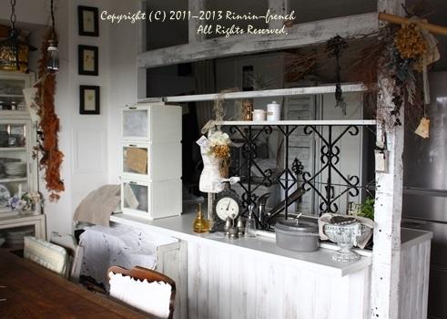 アンティークのアイアンをキッチンに。_e0237680_14221857.jpg