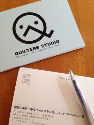 藤田久美子「キルターズスタジオ」               パッチワークキルト展_d0169411_1257346.jpg