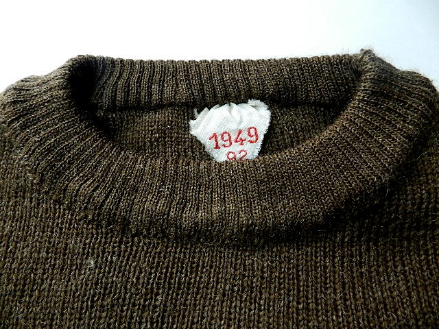 French army 40\'s crew neck knit_f0226051_12423067.jpg