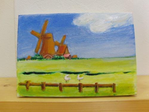 アクリル画 ~ 風車の想い出 ~_e0222340_1846919.jpg