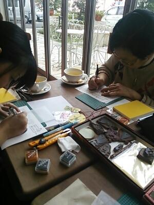 2013.10.23はんこ教室@新越谷カフェバナーノ_f0177745_1411822.jpg
