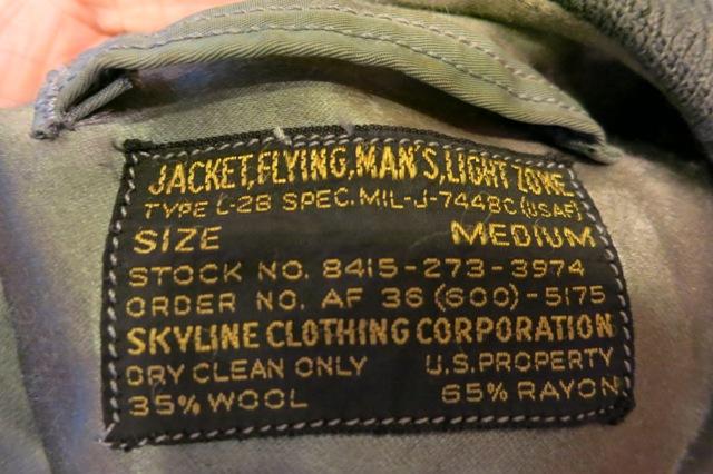 10/26(土)入荷!U.S AIRFORCE L-2B FLIGHT JKT MIL-J-7448C _c0144020_1613669.jpg