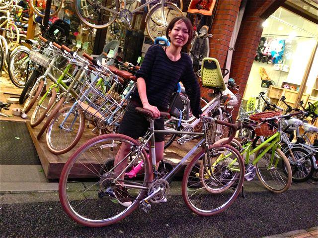 ☆今日のバイシクルガール5本立て☆ 自転車 女子 おしゃれ_b0212032_21192450.jpg