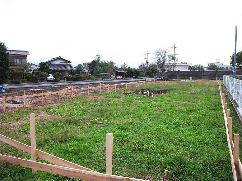 笠間の店舗 工事着工 2013/10/25_a0039934_17471643.jpg
