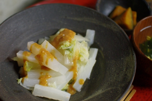 大根と白菜の塩蒸し_c0110869_21576100.jpg