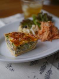お豆と野菜のキッシュ_b0142989_16481116.jpg