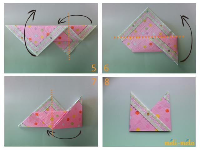 ハート 折り紙 紙ナプキン折り方簡単 : kwrapping.exblog.jp