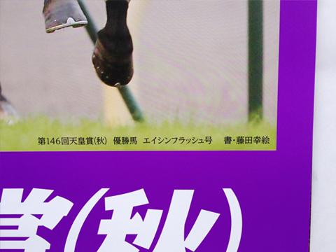 ポスター文字「秋」 : JRA様 第148回天皇賞(秋)_c0141944_2352829.jpg