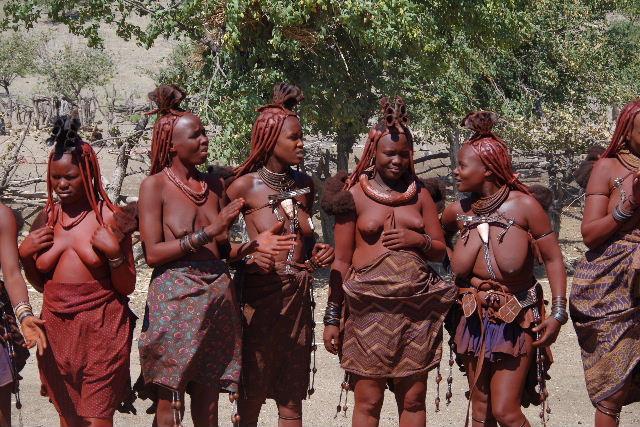 ナミビアの旅(35) 【 ヒンバ族 】  ヒンバ族のダンス_c0011649_2334996.jpg