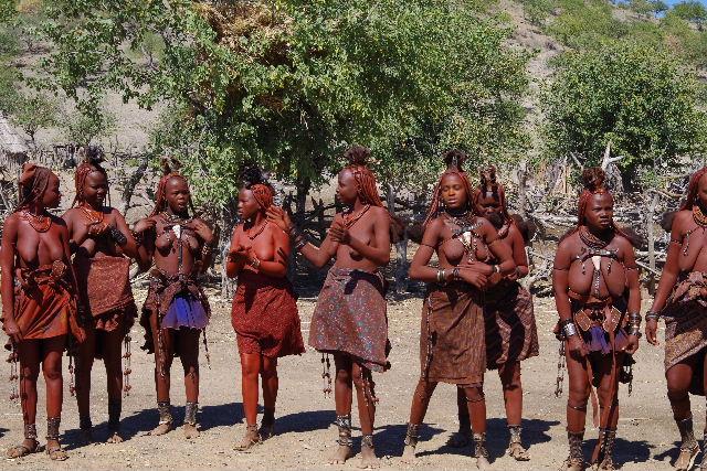 ナミビアの旅(35) 【 ヒンバ族 】  ヒンバ族のダンス_c0011649_5484946.jpg