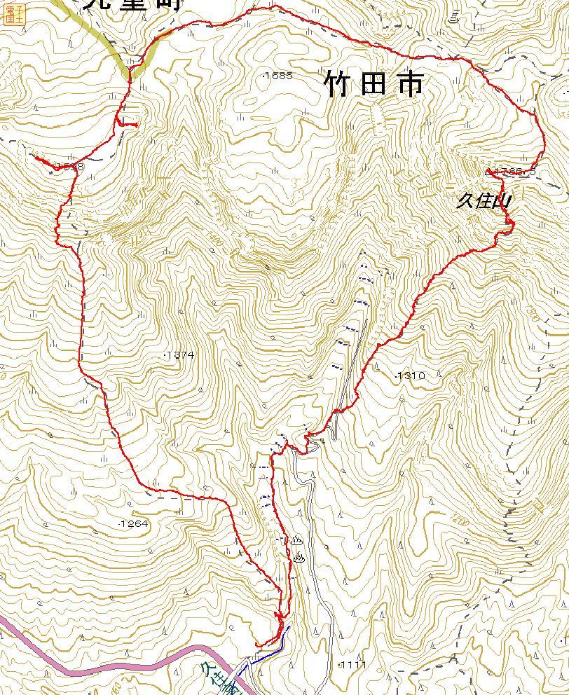 南くじゅうの紅葉 久住山と俊ちゃんの今日の山歩き_c0077338_22421682.jpg