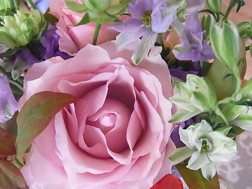 ピンクのバラのブーケ_b0105897_19573731.jpg