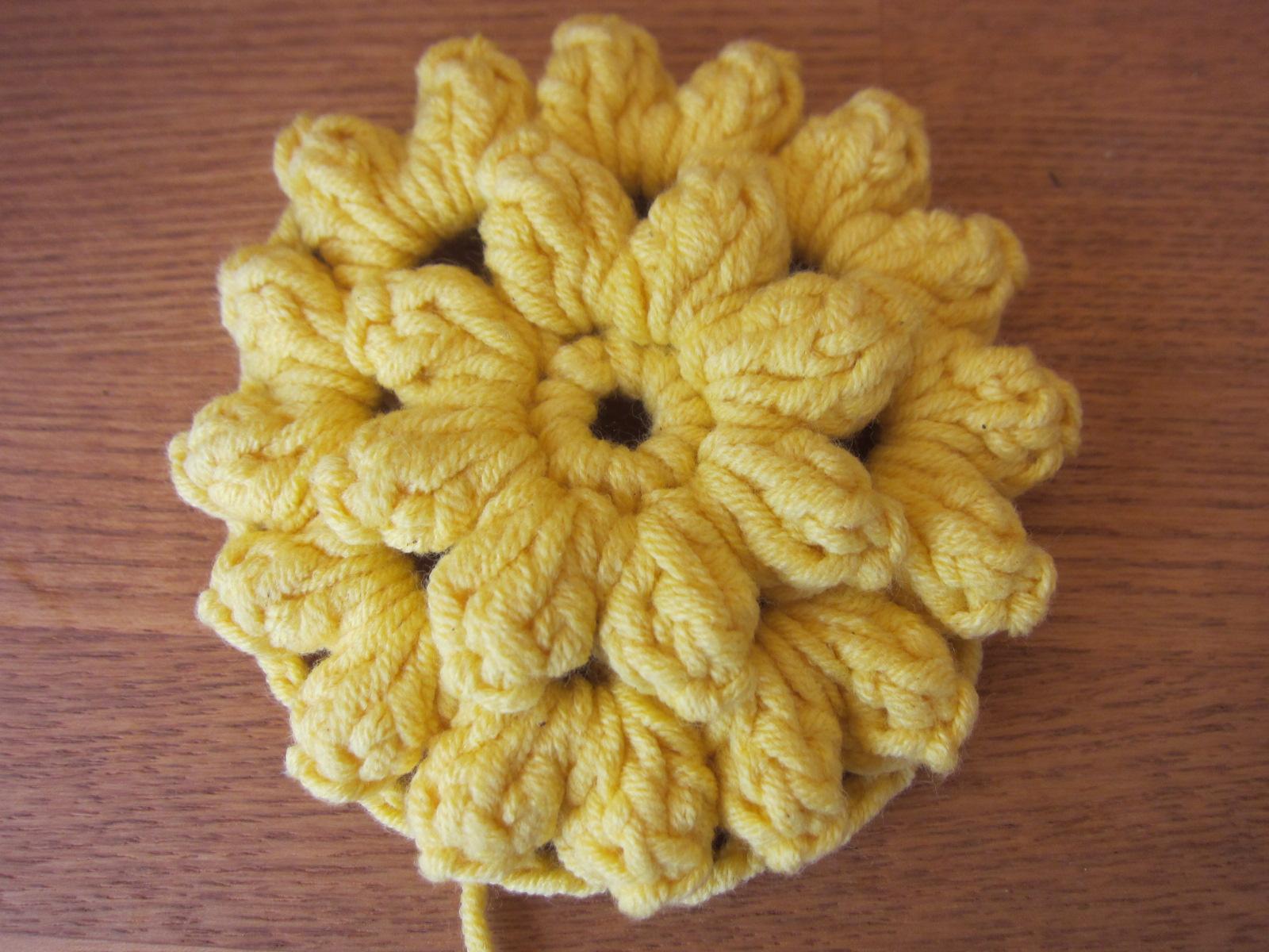 パプコーン編みのフラワー