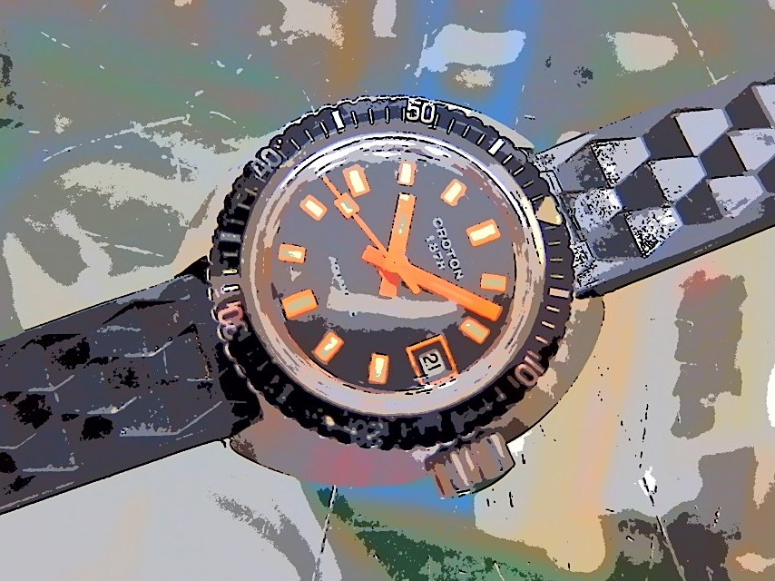 CROTON DAIVER WATCH_c0126359_16415448.jpg