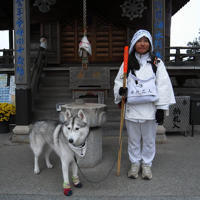 Memory of the second pilgrimage with husky HANA_c0049299_16481235.jpg