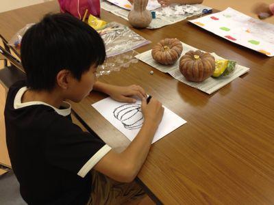 かぼちゃを描こう〜城陽教室〜_f0215199_1201195.jpg