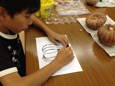 かぼちゃを描こう〜城陽教室〜_f0215199_120123.jpg