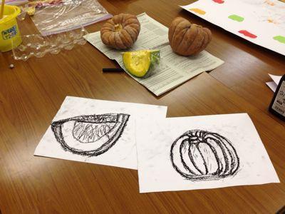 かぼちゃを描こう〜城陽教室〜_f0215199_1201284.jpg