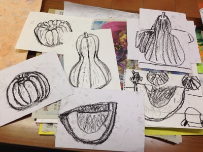 かぼちゃを描こう〜城陽教室〜_f0215199_1201371.jpg