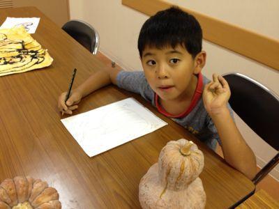 かぼちゃを描こう〜城陽教室〜_f0215199_1202246.jpg
