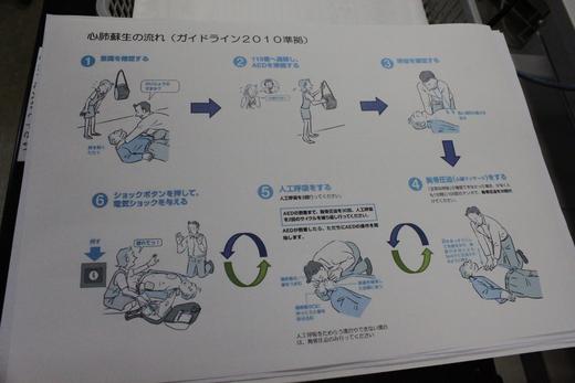AED講習会および避難訓練と消火器の使い方講習会_d0063218_11241247.jpg
